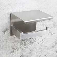 NHBR-Toilet Paper Holder Shelf Adhesive Bathroom Accessories Tissue Roll Holder
