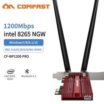 Dual Band 2.4G/5Ghz Wifi Bluetooth Wlan For Intel 8265NGW Wireless-AC 8265 PCIE-X1 802.11ac 867Mbps 2x2 MU-MIMO WIFI BT 4.2 Card цена 2017
