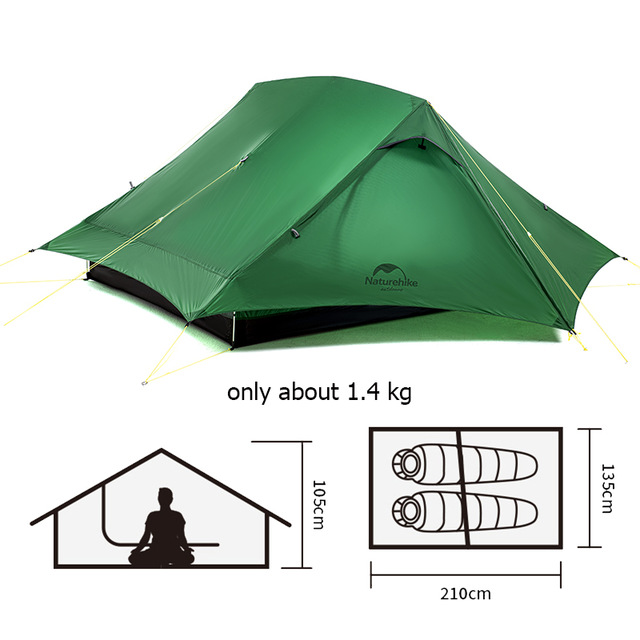 Naturehike Force UL 2 Person Ultralight Tent Hiking Outdoor  5
