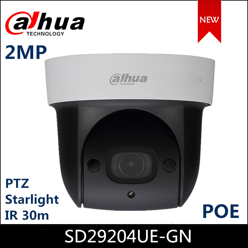 Dahua Lite Series 2Mp Starlight IR PTZ Network Camera SD29204UE-GN 1/2.8 STARVIS CMOS Powerful 4x Optical Zoom POE IP Camera