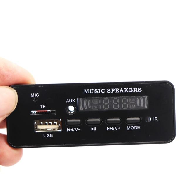 DC 12V Bluetooth 5.0 MP3 WMA Decoder Board Audio Module USB TF FM Radio AUX MP3 Player Handfree For Car Support Recording 1