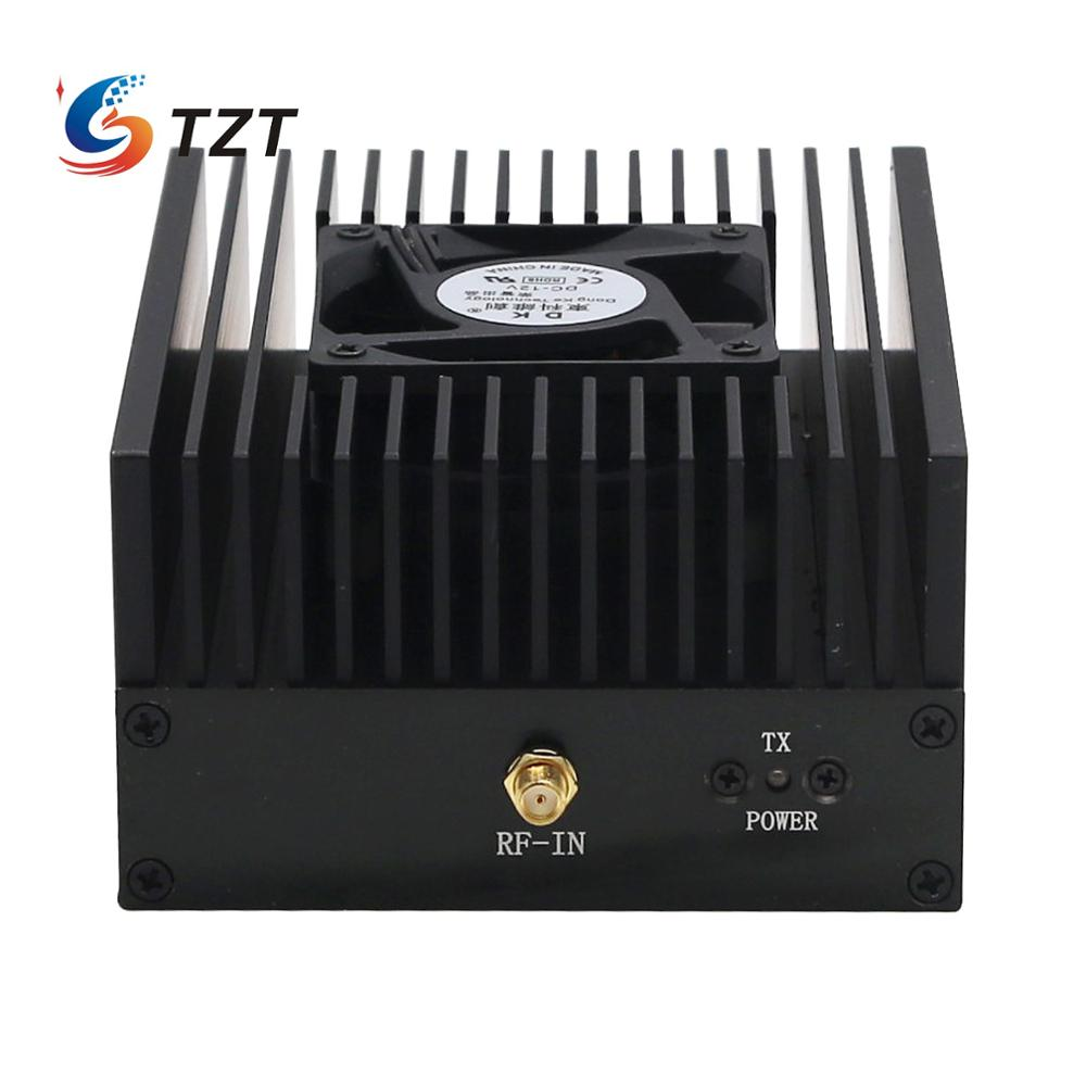 Amplificador de potência tzt 80w dpm rp25, interfone, 400-470mhz, uhf, rádio ham