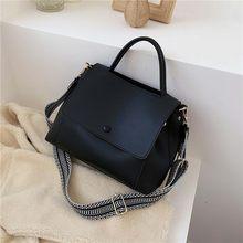 Sac à bandoulière en cuir PU pour femmes, petit sac à main de voyage avec chaîne, couleur unie, collection hiver 2020