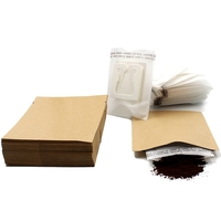 200 Set Combination Coffee Filter Bags And Kraft Paper Coffee Bag,Portable Office Travel Drip Coffee Filters Tools Set