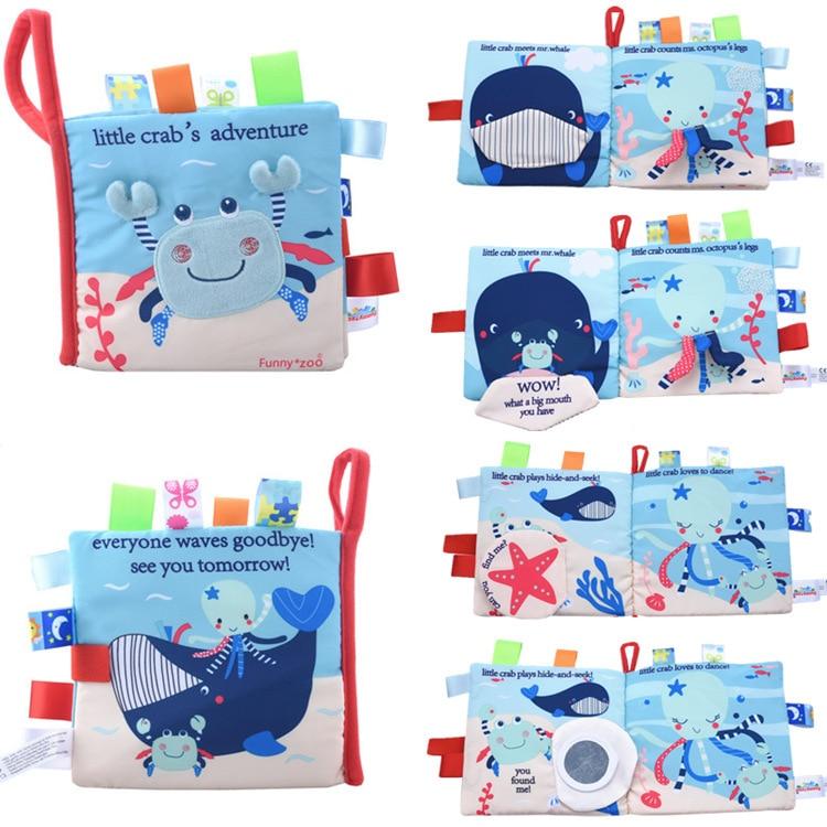 Купить с кэшбэком Educational Baby Toys Hot Infant Kids Early Development Cloth Books Learning Education Unfolding Activity Books DS19