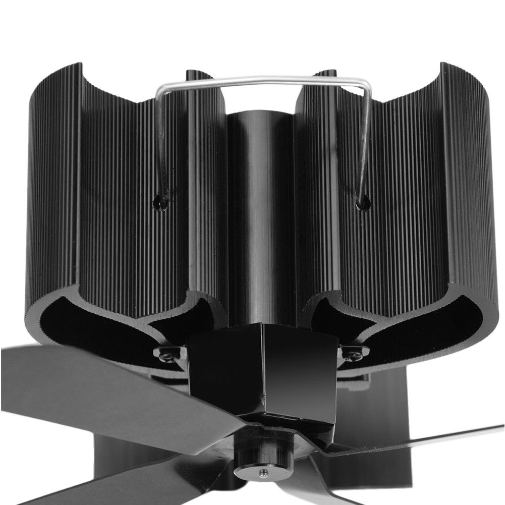 Stove Top Fan For Fireplace, Wood Log Burner - 3 Blade Heat Powered Eco-friendly