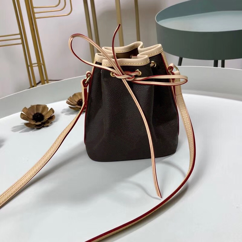 HOT 2020 New Luxury Design Women's Shoulder Bags High-quality Genuine Leather MINI Bucket Bag Fashion Lady Bag Free Shipping