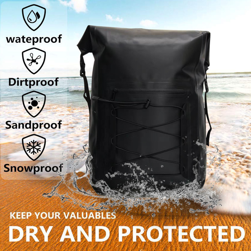 Waterproof Dry Bag Backpack Roll Top For Paddle Boarding,Boating,Climbing,Rafting,Kayaking,Surfing,Fishing,Camping Outdoor Sport