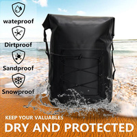 Waterproof Dry Bag Backpack Roll Top for Paddle Boarding Boating Climbing Rafting Kayaking Surfing Fishing Camping Outdoor Sport