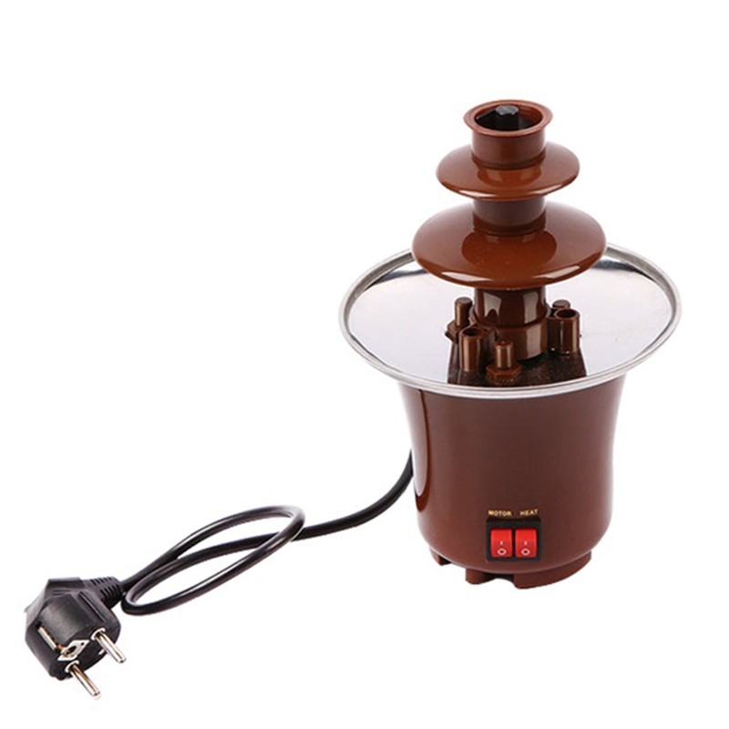 3 Layers Mini Chocolate Fountains Fondue Waterfall Maker Machine Home Event Exhibition Wedding Birthday Party EU/US