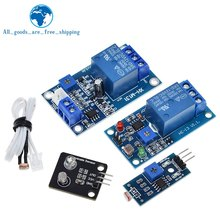 TZT 5V 12V Light Control Switch Photoresistor Relay Module Detection Sensor 10A brightness Automatic Control Module For Arduino