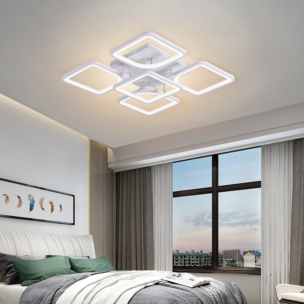 Moderna lâmpada do teto led para sala de estar/jantar cozinha quarto casa deco luminárias rc pode ser escurecido