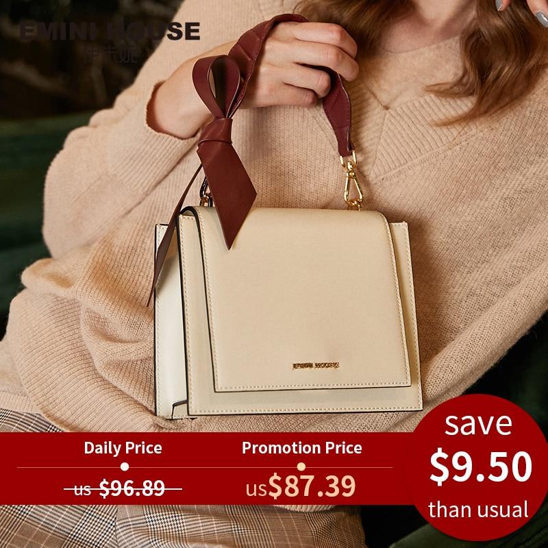 Crossbody-Bags Bags Designer Emini House Leather Women Bow for Luxury Handbags Split