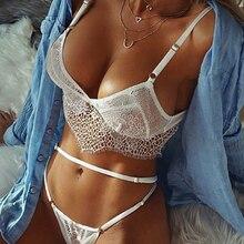Women Sexy Lingerie Lace Apparel Ladies Sex See-through Transparent Mesh net Bra
