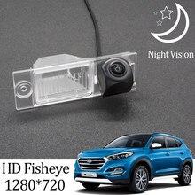 Owtosin hd 1280*720 fisheye câmera de visão traseira para hyundai tucson suv 3rd geração 2016 2017 2018 acessórios estacionamento do carro