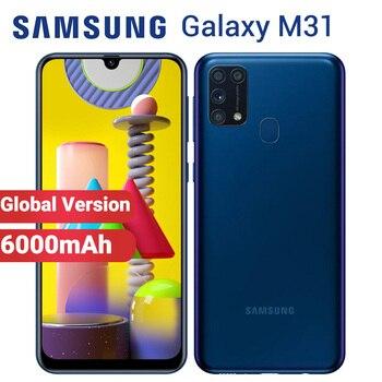 Перейти на Алиэкспресс и купить Смартфон Samsung Galaxy M31 128 ГБ 6 Гб мобильный телефон 6000 мАч M315F/DSN 6,4 дюймExynos 9611 4 камера 64MP двойная SIM Android 10