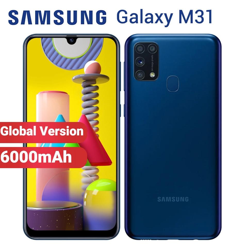 "Global Samsung Galaxy M31 128GB 6GB Mobile Phone 6000mAh M315F/DSN 6.4"" Exynos 9611 4 camera 64MP Dual SIM Android 10 Smartphone|Cellphones| - AliExpress"