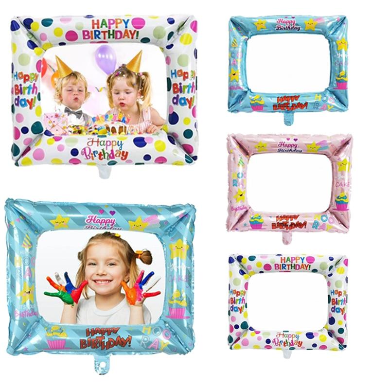 1 шт. фото стенд фольга шары с днем рождения фоторамка Globos День Рождения украшения детский душ детские надувные игрушки подарок