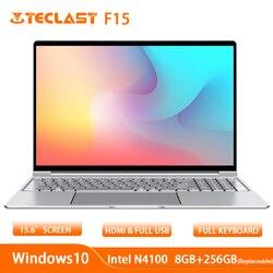 Teclast F15 Laptop 15.6 Inch 1920X1080 Windows 10 Os Intel N4100 Quad Core 8 Gb Ram 256 Gb ssd Hdmi Notebook 6000 Mah
