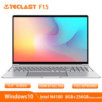 Teclast F15 Laptop 15.6 inch 1920 x 1080 Windows 10 OS Intel N4100 Quad Core 8GB RAM 256GB SSD HDMI Notebook 6000mAh - Category 🛒 Computer & Office