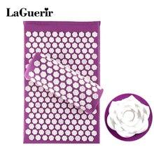 LaGuerir Acupressure розовая форма массажные хлопковые акупунктурные коврики + подушка для спины рефлексологический массаж триггерной точки снятия стресса