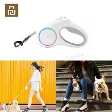 YouPin PETKIT נשלף חיות מחמד כלב גרירה חבל גמיש טבעת צורת 2.6m עם נטענת LED לילה אור