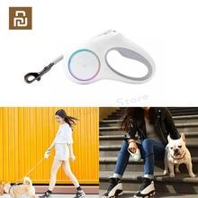 YouPin PETKIT Versenkbare Haustier Leine Hund Zugseil Flexible Ring Form 2,6 m mit Wiederaufladbare LED Nacht Licht