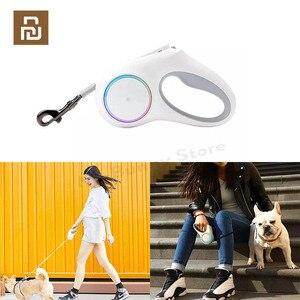 Image 1 - YouPin PETKIT rétractable laisse pour animaux de compagnie chien Traction corde Flexible anneau forme 2.6m avec Rechargeable LED veilleuse