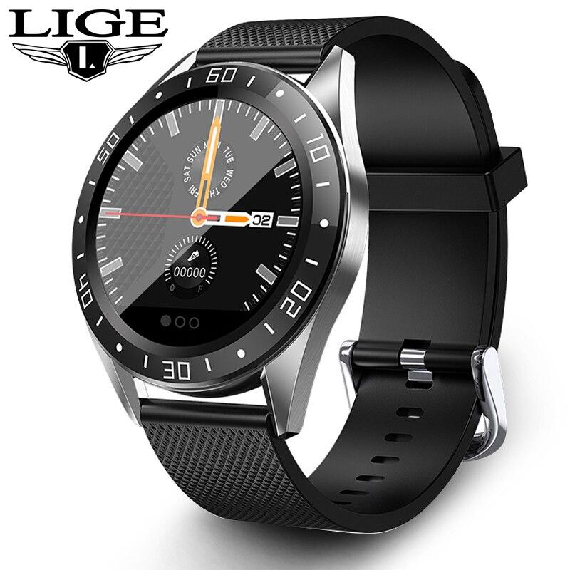 LIGE Новые смарт часы IP68 монитор сердечного ритма фитнес часы кровяное давление будильник шагомер спортивные Смарт часы для мужчин и женщин + коробка|Смарт-часы|   | АлиЭкспресс