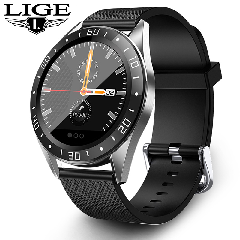 LIGE New Smart Watch IP68 Heart Rate Monitor Fitness Watch Blood Pressure Alarm Clock Pedometer Sports Smart Watch Men Women Box