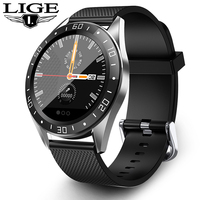 LIGE New Smart Watch IP68 Heart Rate Monitor Fitness Watch Blood Pressure Alarm Clock Pedometer Sports Smart Watch Men Women+Box