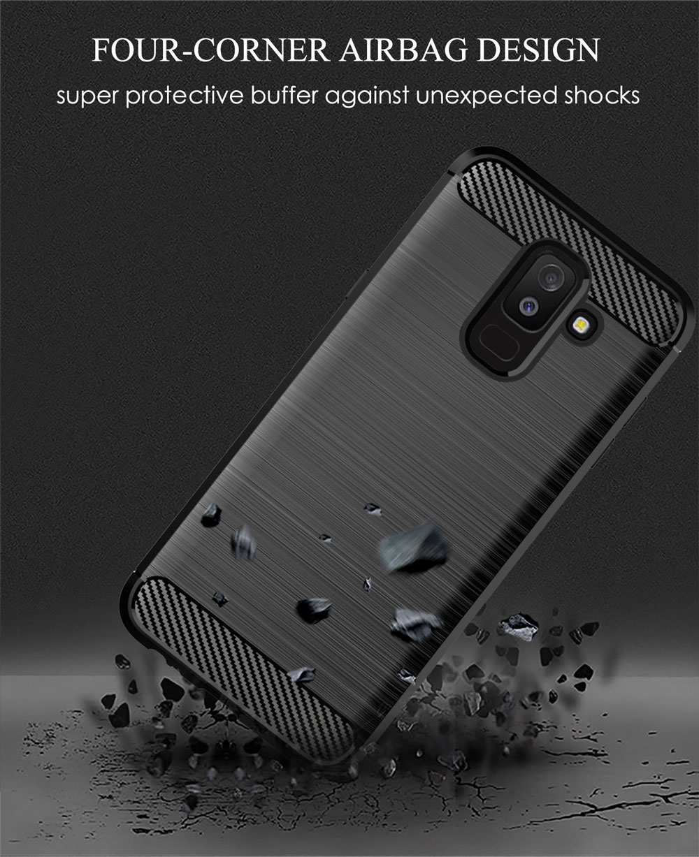 Image 5 - Carbon Soft Silicone Phone Case For Samsung Galaxy A6 Plus A6S 2018 Cover Bumper GalaxyA6 A6plus A62018 A6s2018 SM A600F A605F-in Half-wrapped Cases from Cellphones & Telecommunications