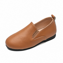 Kids Casual Shoes Leather For Boys Girls Brown Comfortable Beautiful Leisure Footwear Size 21-30 Child New Arrival 2021 Spring cheap CMSOLO Rubber 7-12m 13-24m 25-36m 3-6y 7-12y CN(Origin) Spring Autumn Unisex