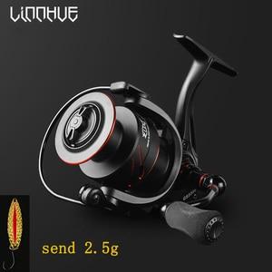 Image 2 - LINNHUE New Fishing Reel Full Metal Spool Spinning Reel 5.0:1 Max Drag 10Kg Power Smooth Sea Carp Fishing Reel Black