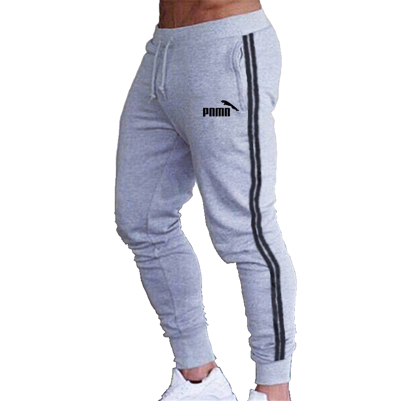 Mens Joggers stripe Casual Pants Fitness Sportswear Tracksuit Bottoms Skinny Sweatpants Trousers Black Gyms Jogger Track Pants