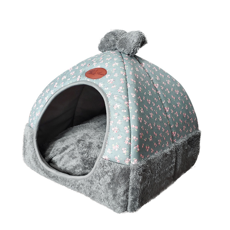 Soft Pet Beds Tent Rabbit Design Cat House With A Hole Warm Portable Removable Washable Cats Litter Kennel Nest Puppy 2