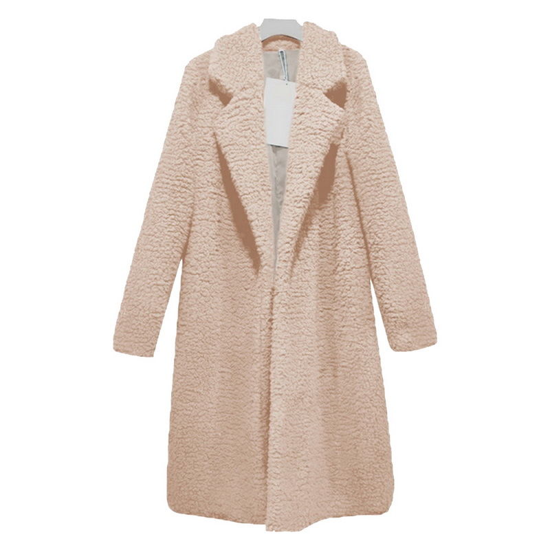 Shaggy Long Fur Coat Women Autumn Winter Teddy Coat Outerwear Basic Jacket Plus Size Cardigan Coat Turn Down Jacket Femme