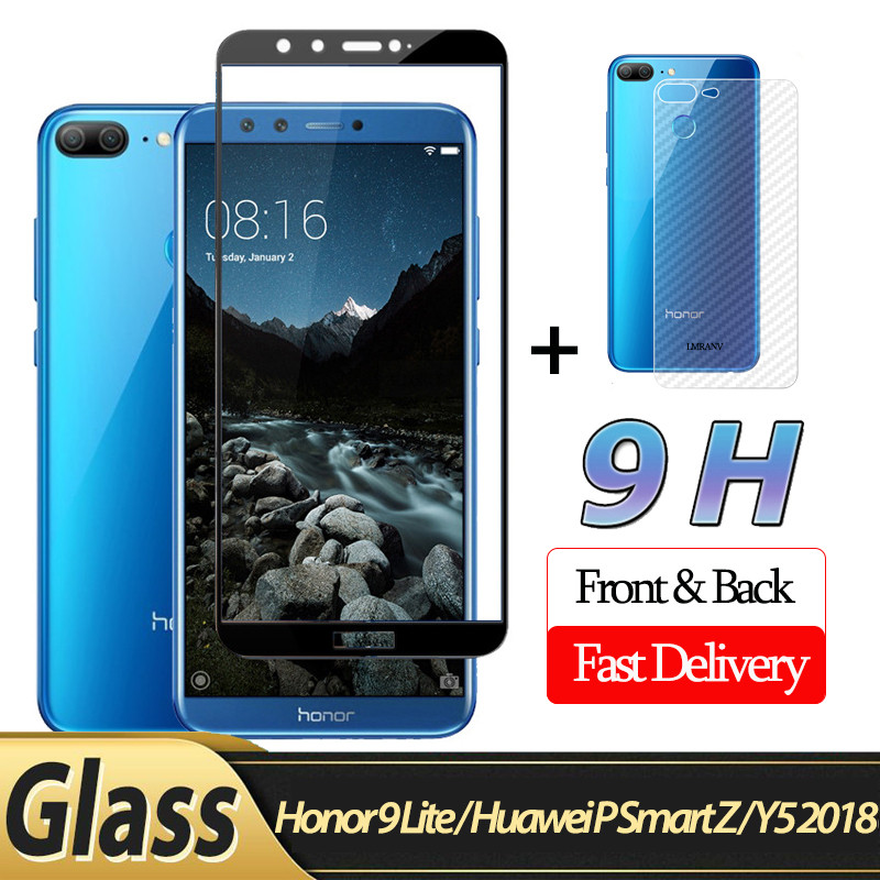 2-in-1 Front <font><b>Glass</b></font> + Back Film <font><b>Honor</b></font> <font><b>9</b></font> Lite <font><b>3D</b></font> <font><b>Glass</b></font> for Huawei P Smart Z Y5 2018 Screen Protector <font><b>honor</b></font> <font><b>9</b></font> lite <font><b>protective</b></font> <font><b>glass</b></font> image