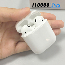 i10000 tws Wireless Earphones 6D Super Bass Bluetooth Earbuds 1:1 Open the lid to connect For smart phone pk h1 Chip i2000 i500