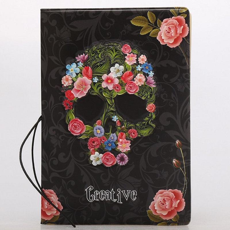 1 Pcs Skull Rose Passport Covers Cartoon Passport Holder Travel Accessories Bags ID Bank Card Business Holder Case For Women