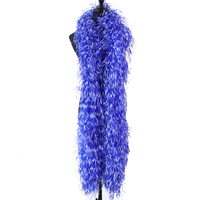 10Ply Tie Dying Natural Ostrich feather Boa Plumes for Wedding Dress Party Accessory Decoration Sewing Ribbon Crafts 2 Meters