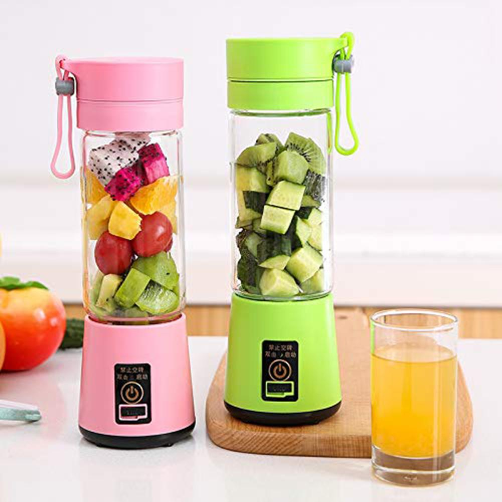 4 Blades Portable Blender Electric Blender USB Rechargeable 500ml Juicer Cup Extractor Fruit Smoothie Maker Cup Bottle And Cover