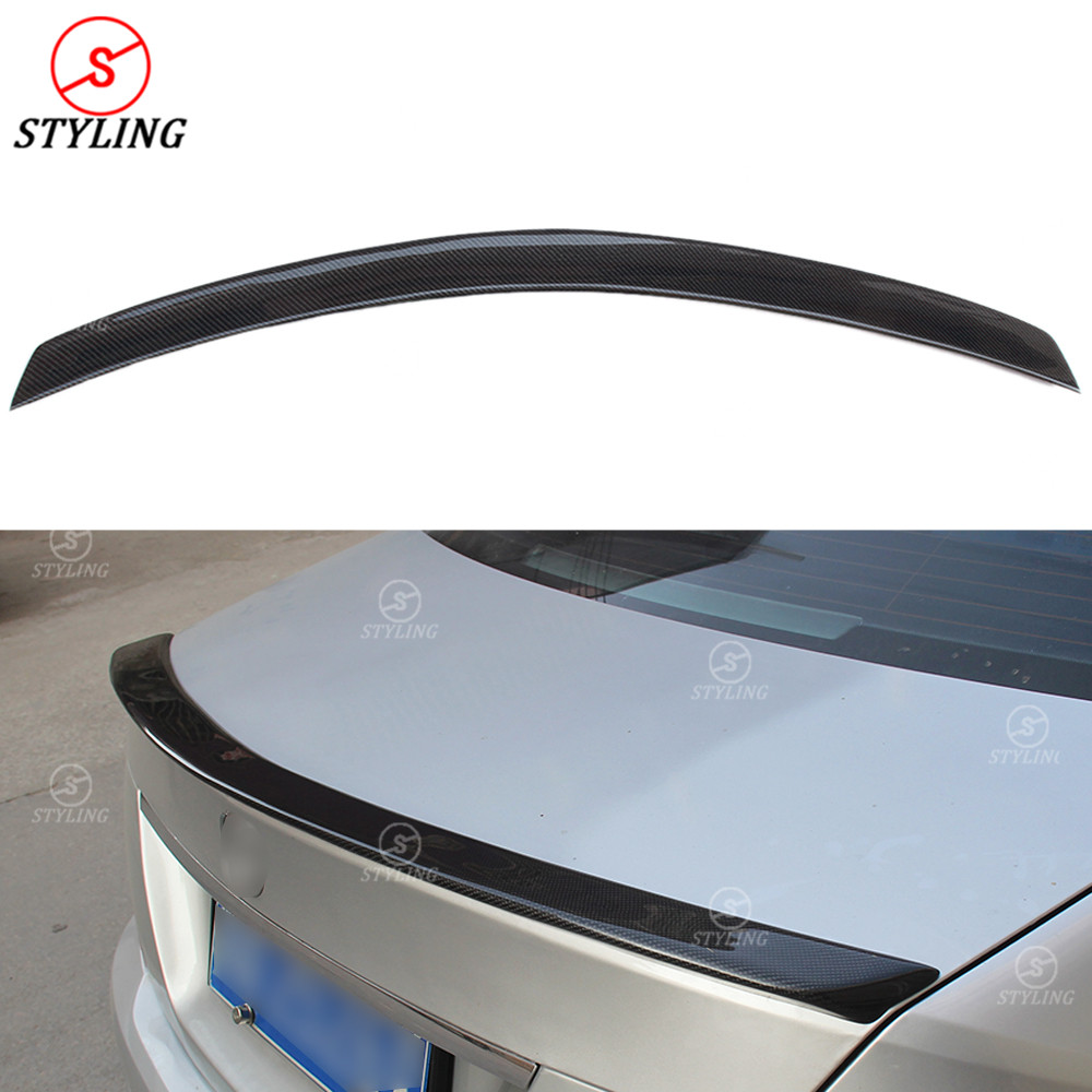 W204 <font><b>Coupe</b></font> Carbon Spoiler AMG Style For <font><b>Mercedes</b></font> C200 C250 <font><b>C300</b></font> rear trunk spoiler wing 2008 2009 2010 2011 2012 2013 2014 image