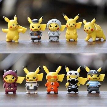 10pcs / sets cartoon movie Pokémon Action figure mini toy doll 4CM Pikachu Action figure model children gift birthday gift цена 2017
