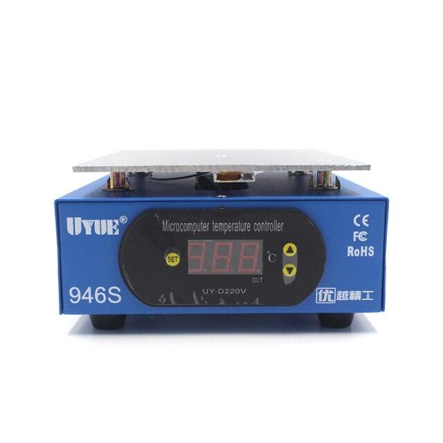 UYUE 946s station de préchauffage 220/110V 400W 140X200mm LCD plate-forme décran numérique plaque chauffante pour téléphone réparation écran séparateur