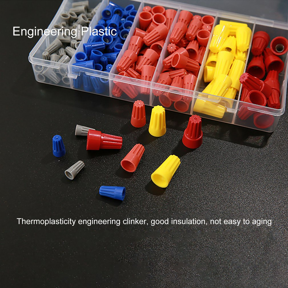 158Pcs Twist Nuts Caps Set Electrical Wire Connectors Quick Insulated Screw Term