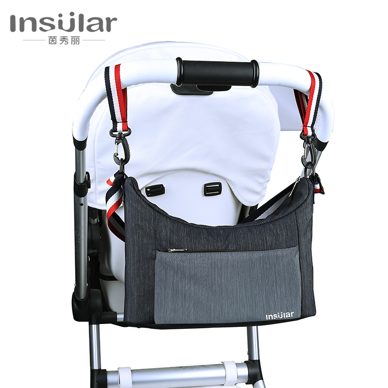 Insular Multi-functional Waterproof Shoulder Diaper Bag Stroller Bag Mom And Baby Diaper Bag Stroller Pannier Bag