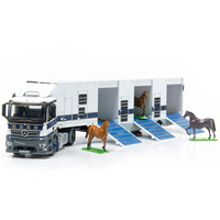 Delicate TINY Mini alloy car model Outfit Hong Kong Jockey Club Carriage diecast truck and three horses model toys gift collect