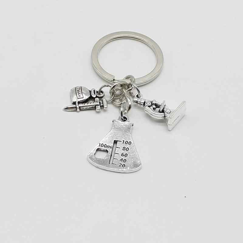 1 mikroskop brelok nauki brelok biolog naukowiec chemia prezent, aby twój ulubiony biżuteria