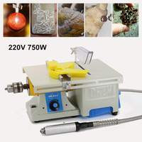 Mini Table Saw Blade Handmade Woodworking Bench Lathe Electric Cutting Grinding Polishing Carving Machine 220V